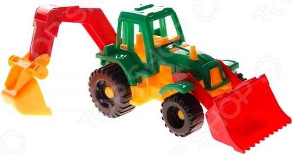 купить Трактор игрушечный Нордпласт «Ижора с грейдером и ковшом» по цене 213 рублей