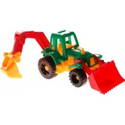 фото Трактор игрушечный Нордпласт «Ижора с грейдером и ковшом». В ассортименте