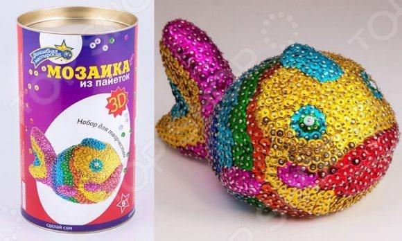 Волшебная мастерская Мозаика из пайеток 3D «Рыбка»