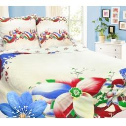фото Комплект постельного белья Сова и Жаворонок «Жасмин». Семейный. Тип ткани: бязь-премиум