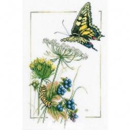 фото Набор для вышивания Lanarte «Бабочки у черники»