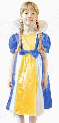 Костюм карнавальный для девочки Новогодняя сказка «Королева» CH1738/MМаскарадные костюмы для девочек<br>Костюм карнавальный для девочки Новогодняя сказка Королева CH1738 M - замечательный костюм для вашей маленькой принцессы. В нем она будет чувствовать себя настоящей звездой костюмированного вечера. Яркое разноцветное платье с завышенной талией выполнено из плотной ткани, которая прекрасно держит форму, поэтому малышка будет выглядеть как настоящий сказочный персонаж. Главной особенностью платья является высокий и фигурный ворот. Особенности карнавального костюма для девочки Новогодняя сказка Королева CH1738 M:  завешенная талия украшена большим бантом;  рукава-фонарики оформлены на манжетах;  уплотненный воротник королевской формы. Подарите вашей девочки немного сказочного настроения с карнавальным костюмом для девочки Новогодняя сказка Королева CH1738 M!<br>
