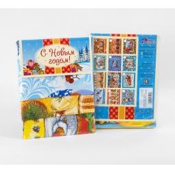 Купить Комплект из 3-х кухонных полотенец новогодний ТексДизайн «Снегири, Куранты, Письмо Деду Морозу»