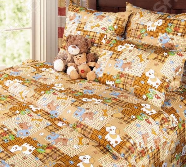 Ясельный комплект постельного белья Бамбино «Тузик»
