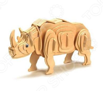 Конструктор 3D Education Line «Белый носорог»Деревянные конструкторы<br>Конструктор 3D Education Line Белый носорог - замечательный подарок для вашего ребенка. Работа с конструктором способствует развитию моторики и логического мышления, расширяет кругозор ребенка, приучает его к аккуратности и делает более усидчивым. Для того что бы собрать игрушку не требуется никаких дополнительных инструментов. Входящие в комплект пластины нужно вставлять в пазы согласно схеме. Получившаяся фигурка станет отличным украшением детской комнаты и ее можно будет с гордостью демонстрировать своим друзьям.<br>