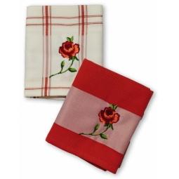 фото Комплект из 2-х вафельных полотенец BONITA «Розы»