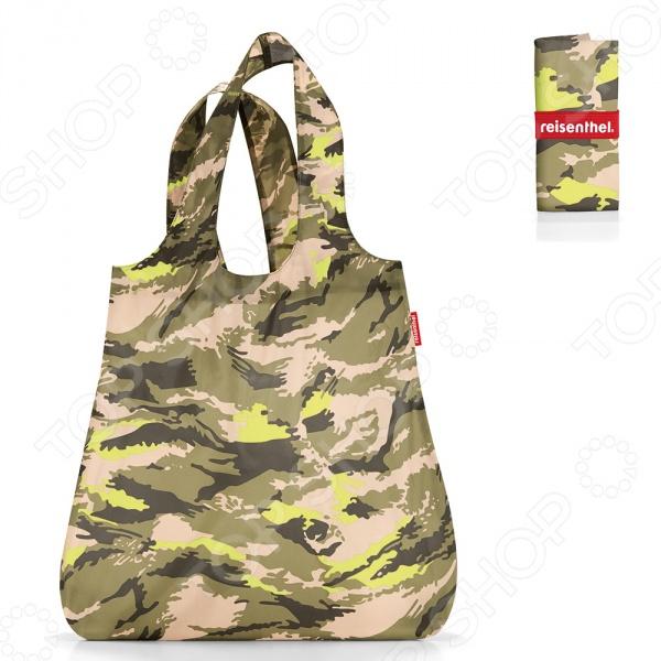 Сумка складная Reisenthel Mini Maxi Shopper CamouflageСумки для покупок<br>Сумка складная Reisenthel Mini Maxi Shopper Camouflage это удобная сумка, которая подходит для любых предметов. Откажитесь от пакетов из пластика, ведь вы можете ходить в магазин с такой симпатичной и стильной сумкой! Она складывается в компактный чехол и занимает совсем мало места, но в развернутом виде выдерживает до 15 литров. Можно использовать ее для походов в магазин, на работу или учебу, на пикник и для любого повседневного использования.<br>