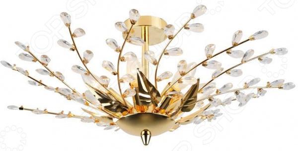 Светильник потолочный Rivoli Adriana-C-7 это изящный, стильный и мощный светильник, который способен ярко освещать целую комнату. Модель предназначена для людей, желающих создать дома атмосферу уюта и тепла, а быт сделать более комфортным. Потолочный светильник идеально подходит для помещений с низким потолком, поскольку занимает совсем немного места. Вы можете использовать его как единственный источник света или сочетать с выполненными в той же стилистике декоративными светильниками, создав в комнате необходимую атмосферу. Выполненный из прозрачного хрусталя и металла светильник Rivoli Adriana-C-7, можно разместить в гостиной или зале. Также подойдет в качестве источника света в местах общественного питания. Классический стиль и универсальная цветовая гамма изделия придадут любому помещению еще большей гармонии, эмоциональной наполненности и добавят нотку романтичности. Общая мощность светильника составляет 280 Вт и этого достаточно, чтобы осветить до 18 кв.м пространства. Рекомендуется использовать 7 ламп накаливания мощностью 40 Вт цоколь Е14 . Степень защиты электротехнического оборудования: IP20.