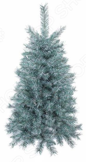 Ель декоративная Новогодняя сказка «Голубая»Елки<br>Зимние праздники, как правило, начинаются с украшения своего дома или офиса нарядными елочками. Это - старая и добрая традиция, которую поддерживает каждая семья. Сейчас натуральные елочки стали все чаще заменяться искусственными, и этому есть несколько причин. Во-первых, декоративная ель - это выгодное приобретение. Купив её один раз, вы можете забыть об ежегодных утомительных поисках подходящей елочки. Во-вторых, такое деревце не будет ронять свои иголки, а значит простоит очень долго. В-третьих, искусственная елочка выглядит гораздо привлекательней нежели натуральная, которая зачастую лишена такого обилия веточек и иголок. Ель декоративная Новогодняя сказка Голубая - красивая елочка с густой и пушистой кроны, которая станет особенным и главным украшением новогоднего интерьера. Ель состоит из 2 секций, которые легко соединяются между собой. Простая и универсальная конструкция елки отличается удивительной долговечностью, а благодаря тому, что ветки закреплены на специальные крючки, сборка и установка не будет отнимать много времени и и сил. Устойчивая подставка выполнена из пластика. Ель декоративная Новогодняя сказка Голубая выполнена с удивительной реалистичностью. Её пушистые веточки из ПВХ очень напоминают настоящие, поэтому она станет достаточно эффектным украшением вашего домашнего или офисного интерьера. Оригинальный дизайн и цвет елочки делают её похожей на маленькое заиндевевшее деревце, которое только принесли из зимнего леса. Вам останется только подобрать елочные украшения и новогодние шары, и украшение зимней зеленой красавицы будет завершено. Благодаря тому, что ветви очень густо расположены, ель будет выглядеть гораздо богаче и солидней. Подарите своим близким и родным немного сказки и новогоднего настроения с декоративной елью Новогодняя сказка Голубая !<br>