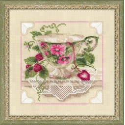 Купить Набор для вышивания крестиком Сотвори Сама «Малиновый чай»