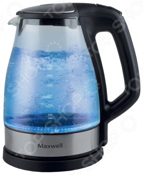 Чайник Maxwell MW-1075Чайники электрические<br>Чайник Maxwell MW-1075 это отличное решение для тех, кто любит устраивать быстрые перерывы на чай или кофе на работе или торопится сделать чай для всей семьи с утра. Это возможно благодаря нагревательному элементу, за счет которого вода закипает за несколько минут. Чайник прост в управлении и долговечен в использовании.<br>