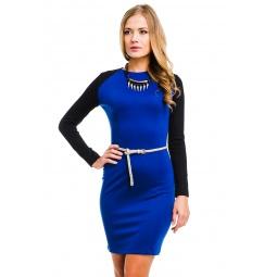 фото Платье Mondigo 5050. Цвет: синий. Размер одежды: 48