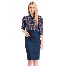 фото Платье Mondigo 5131-1. Цвет: темно-синий. Размер одежды: 48