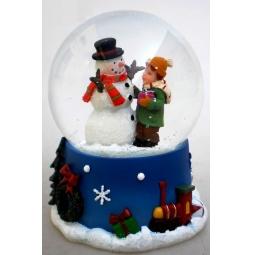 фото Декорация-шар Star Trading «Снеговики с мальчиком»