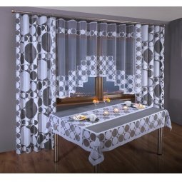 фото Комплект штор для кухни «Уют». Цвет: белый