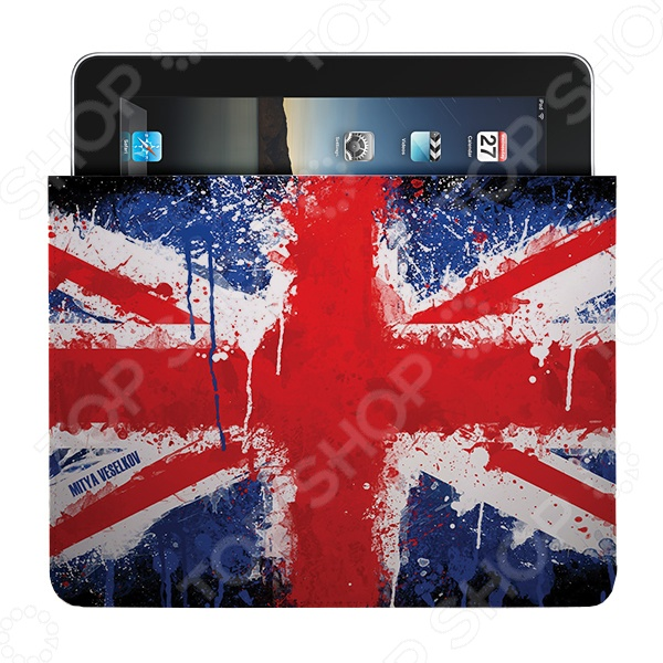 Чехол для iPad Mitya Veselkov «Британский флаг в краске» чехлол для ipad iphone mitya veselkov чехол для ipad райский сад ip 08