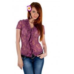 фото Блузка Mondigo 9612. Цвет: темно-розовый. Размер одежды: 44