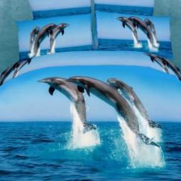 фото Комплект постельного белья Buenas Noches Delfini v More. Satin Fotoprint. Евро