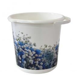 фото Ведро IDEA «Деко. Голубые цветы». Объем: 5 л