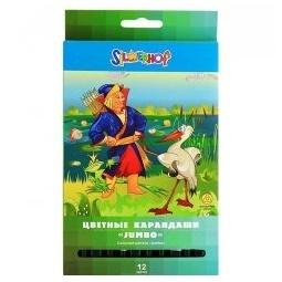 фото Набор карандашей цветных Silwerhof Jumbo «В гостях у сказки»: 12 цветов