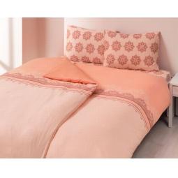 фото Комплект постельного белья TAC Elis. Евро. Цвет: розовый