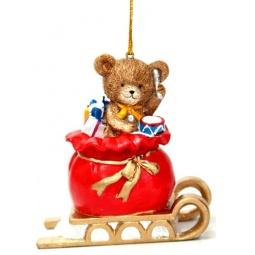 фото Игрушка елочная Феникс-Презент 38322 «Мишка в мешке с подарками»