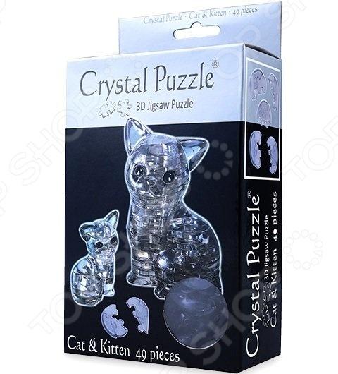 Пазл 3D Crystal Puzzle Кошка кристальный пазл 3d crystal puzzle солнце
