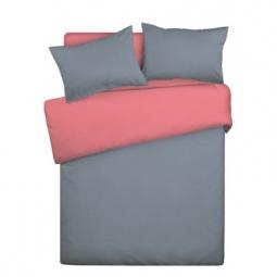 фото Комплект постельного белья Wenge Uno «КБВу-21». 2-спальный. Цвет: серый, коралловый