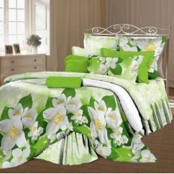 фото Комплект постельного белья Романтика «Сладкий жасмин». 1,5-спальный. Размер наволочки: 70х70 см — 2 шт
