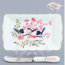 Купить Тарелка под масло Elan Gallery «Райские птички»