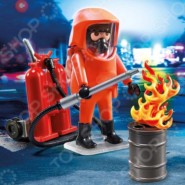 Конструктор игровой Playmobil 5367pm «Пожарная служба: Специальные пожарные силы» набор playmobil пожарная служба пожарная машина со светом и звуком 28 см красный 5363