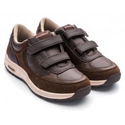 Кроссовки адаптивные женские Walkmaxx. Цвет: коричневый