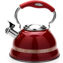 фото Чайник со свистком Mayer&Boch «Версаче». Цвет: красный