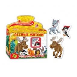 Купить Игра развивающая на магнитах Vladi Toys «Лесные жители» 29979