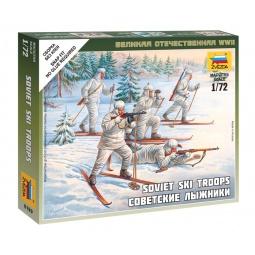 фото Набор сборных фигурок Звезда «Советские лыжники»