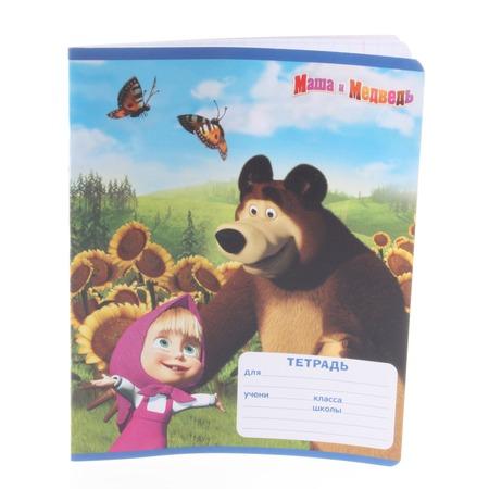 Купить Тетрадь в крупную клетку Росмэн «Маша и Медведь» 4