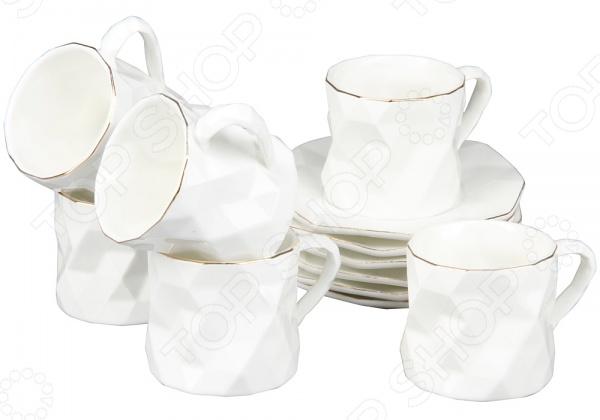 Чайный сервиз Rosenberg 8718Чайные и кофейные наборы<br>Чайный сервиз Rosenberg 8718 станет украшением вашего стола. Красивое оформление стола как праздничного, так и повседневного это целое искусство. Правильно подобранная посуда это залог успеха в этом деле. Такой чайный сервиз придется по вкусу даже самым требовательным хозяйкам и придаст особый шарм и очарование сервируемому столу. В набор входят шесть чашек объемом 175 мл и 6 блюдец.<br>