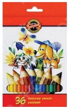 Набор карандашей цветных Koh-I-Noor La Paloma «Кошка и собака»
