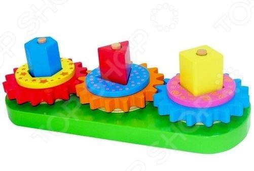 фото Игрушка развивающая Toys Lab Вращающиеся геометрические блоки, Другие развивающие игрушки и игры