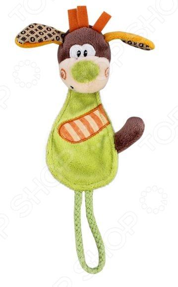 Игрушка мягкая развивающая Жирафики «Собачка» развивающая игрушка жирафики подвеска с колокольчиком и прорезывателем собачка билли 939329