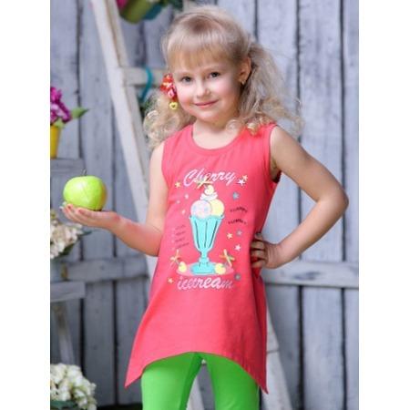Купить Майка для девочек Detiland SS15-UBL-GTU-960. Цвет: коралловый