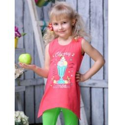 фото Майка для девочек Detiland SS15-UBL-GTU-960. Цвет: коралловый. Рост: 98 см