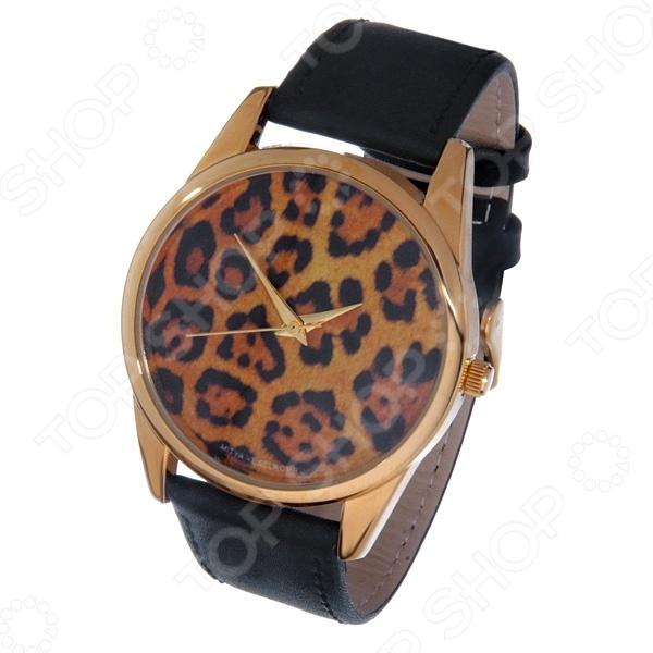 Часы наручные Mitya Veselkov «Леопардовый принт» Gold
