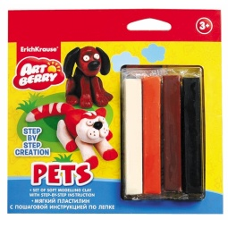 Купить Набор пластилина мягкого Erich Krause Pets Step-by-step Creation