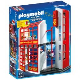фото Конструктор игровой Playmobil «Пожарная служба: Пожарная станция с сигнализацией»