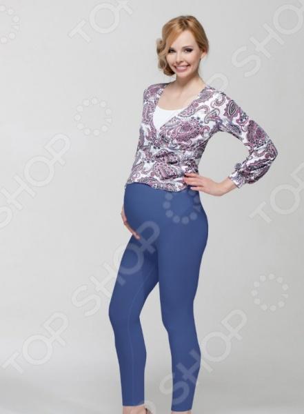 Леггинсы для беременных Nuova Vita 5202.17. Цвет: синий aibo подходит для беременных женщин беременных женщин леггинсы стрейч брюки проп живот беременных брюки m402 светло серый l
