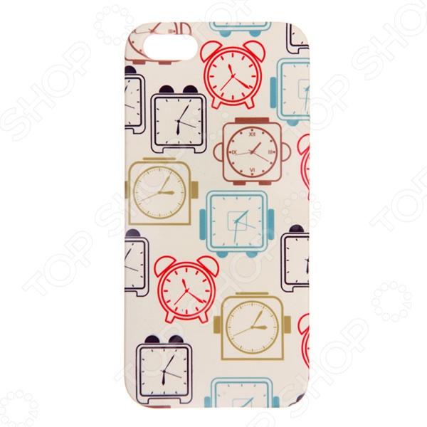 Чехол для iPhone 5 Mitya Veselkov «Будильники» чехол для iphone 5 mitya veselkov жизнь прекрасна