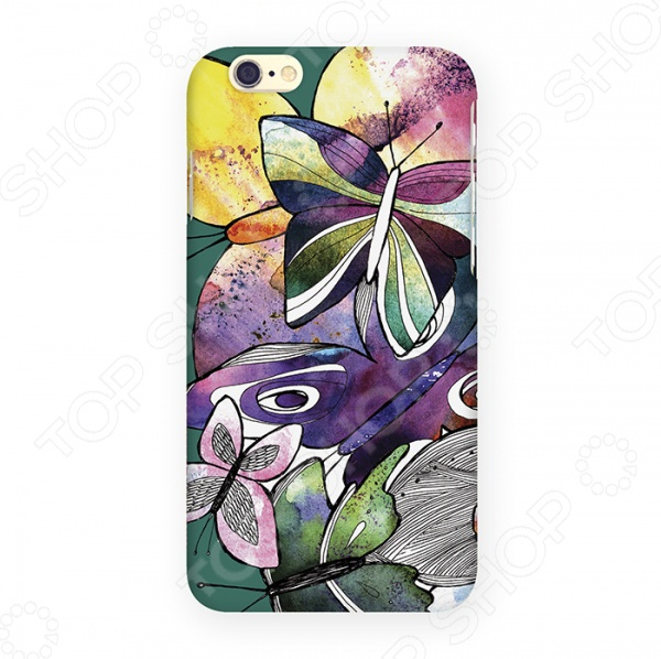 Чехол для iPhone 6 Mitya Veselkov «Акварельные бабочки» чехол для iphone 6 mitya veselkov never give up цвет фона красный