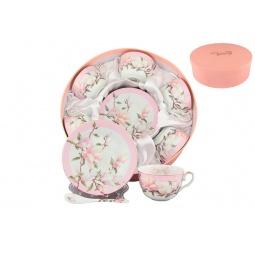 Купить Чайный набор с ложками Elan Gallery «Орхидея на розовом»