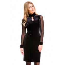 фото Платье Mondigo 7019. Цвет: черный. Размер одежды: 48